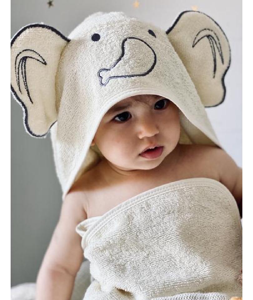 Baboo - Cream Swaddle Towel 0