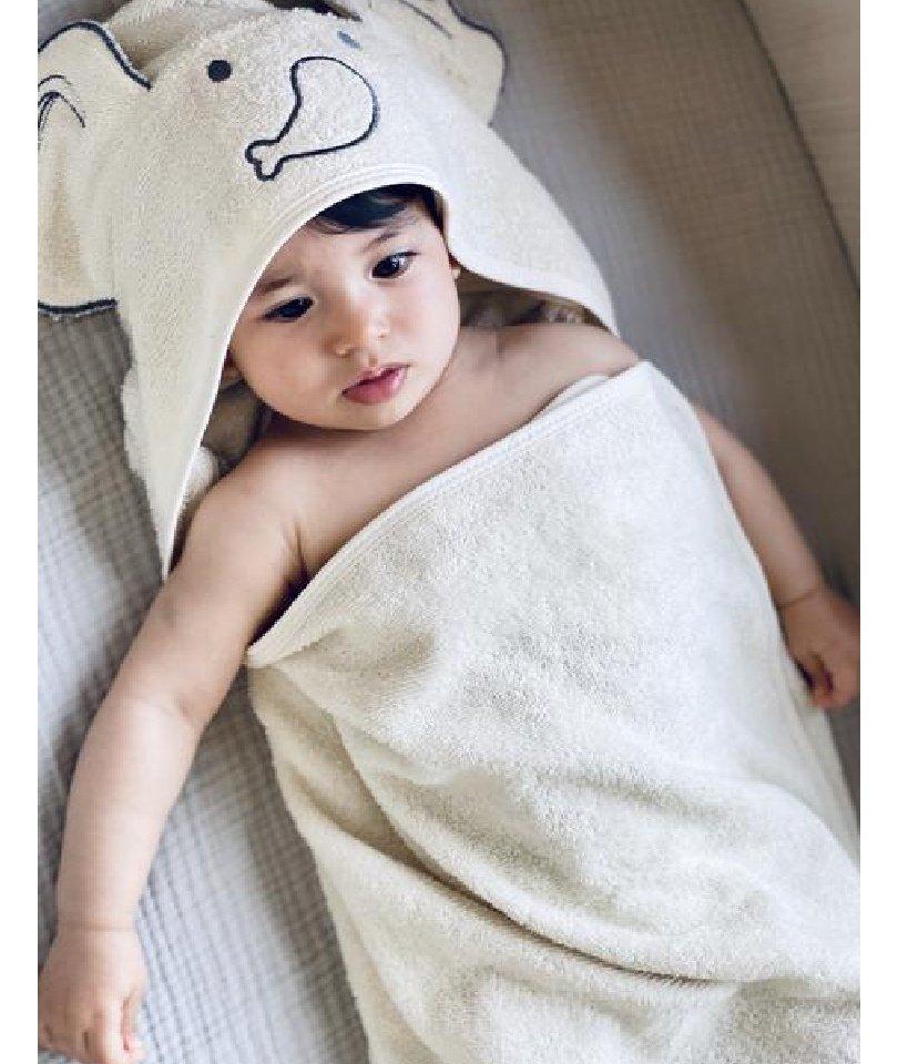 Baboo - Cream Swaddle Towel 1