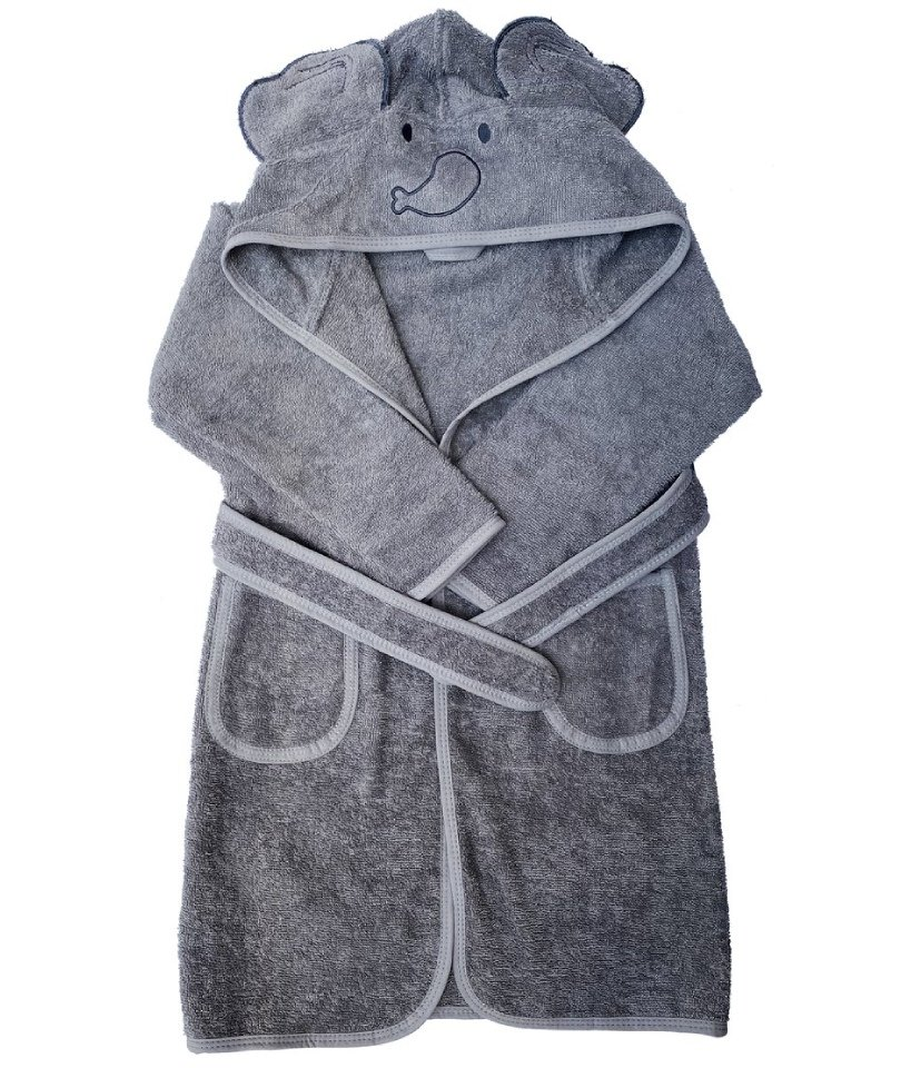 Baboo - Elphy Grey Bathrobe