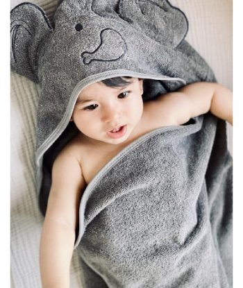 Baboo - Grey Swaddle Towel