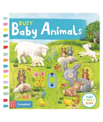 Busy Baby Animals Board Book