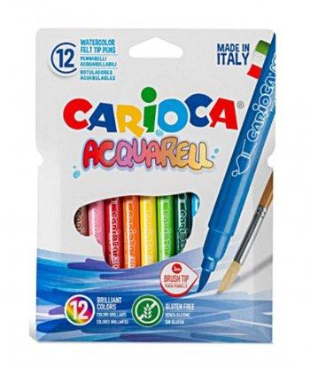Carioca Acquarell Fırça Uçlu Keçeli Kalem 12'li