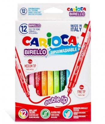 Carioca Birello Yıkanabilir Çift Taraflı 12 Renk Keçeli Kalem