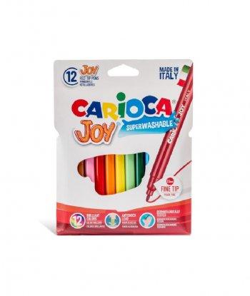Carioca Joy Süper Yıkanabilir Kalın Uçlu Keçeli Boya Kalemi (12'li)