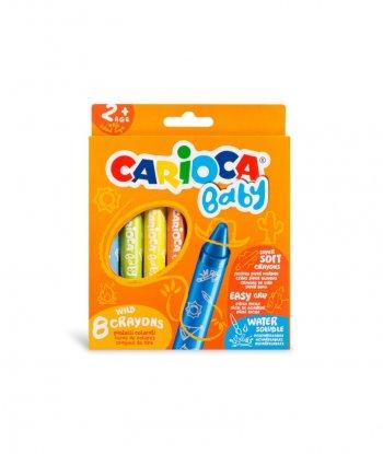 Carioca Jumbo Bebek Elleri Kirletmeyen Pastel Boya Kalemi (8'li)