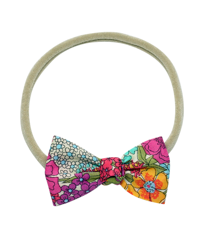 Ciara Düğümlü Mini Kurdele Saç Bandı - Liberty Fabric