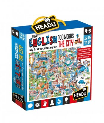 Headu - Easy English 100 Words - City (108 Parça)