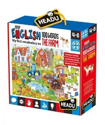 Headu - Easy English 100 Words - Farm (108 Parça)