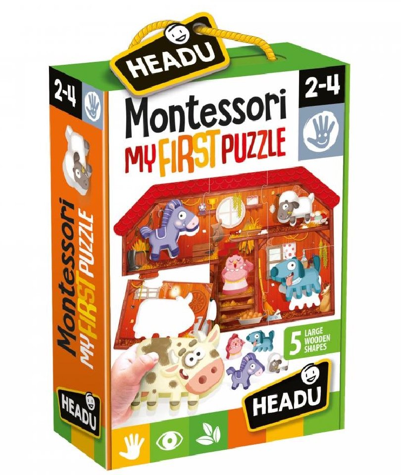 Headu - Montessori My First Puzzle-Farm