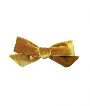 Kadife Fiyonk Toka - Gold