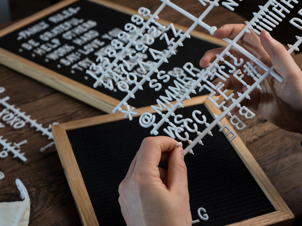 Letter Board - Harfli Ahşap Yazı Panosu 5