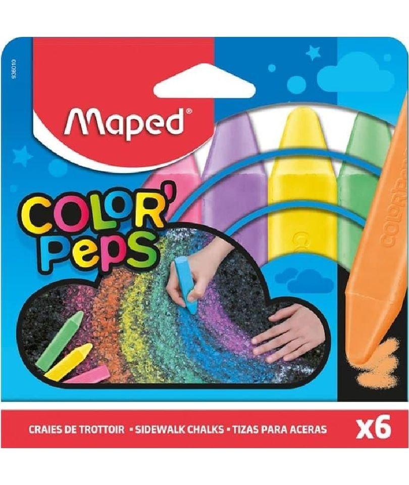 Maped Sidewalk Chalks, Yer Tebeşiri 6 Renk 1