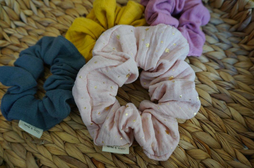 Organic Cotton Scrunchie - Blush 1