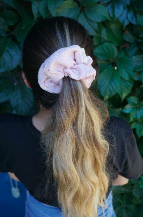 Organic Cotton Scrunchie - Blush 2
