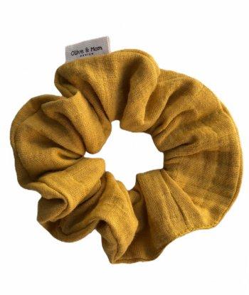 Organic Cotton Scrunchie - Mustard