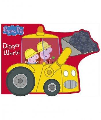Peppa Pig: Digger World (Ciltli - Döner Tekerlekli)