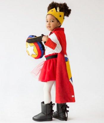 Pikabu Kırmızı Çocuk Pelerin Seti