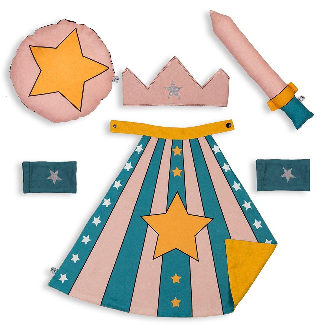 Pikabu Yıldızlı Çocuk Pelerin Seti - Yeşil 0