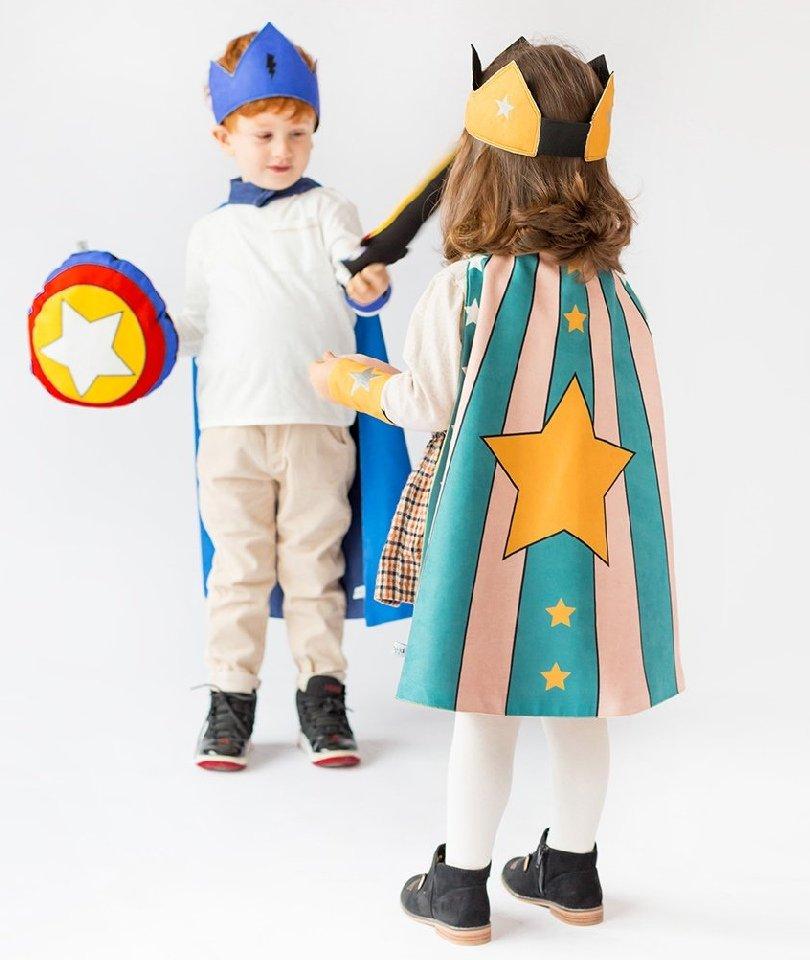 Pikabu Yıldızlı Çocuk Pelerin Seti - Yeşil