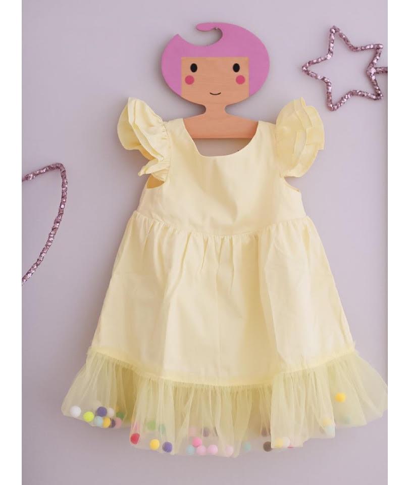 Pompom Dress Sunshine 0