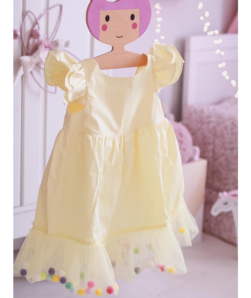 Pompom Dress Sunshine 1
