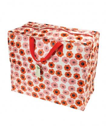 Rex London Jumbo Çanta - Kırmızı Çiçekli
