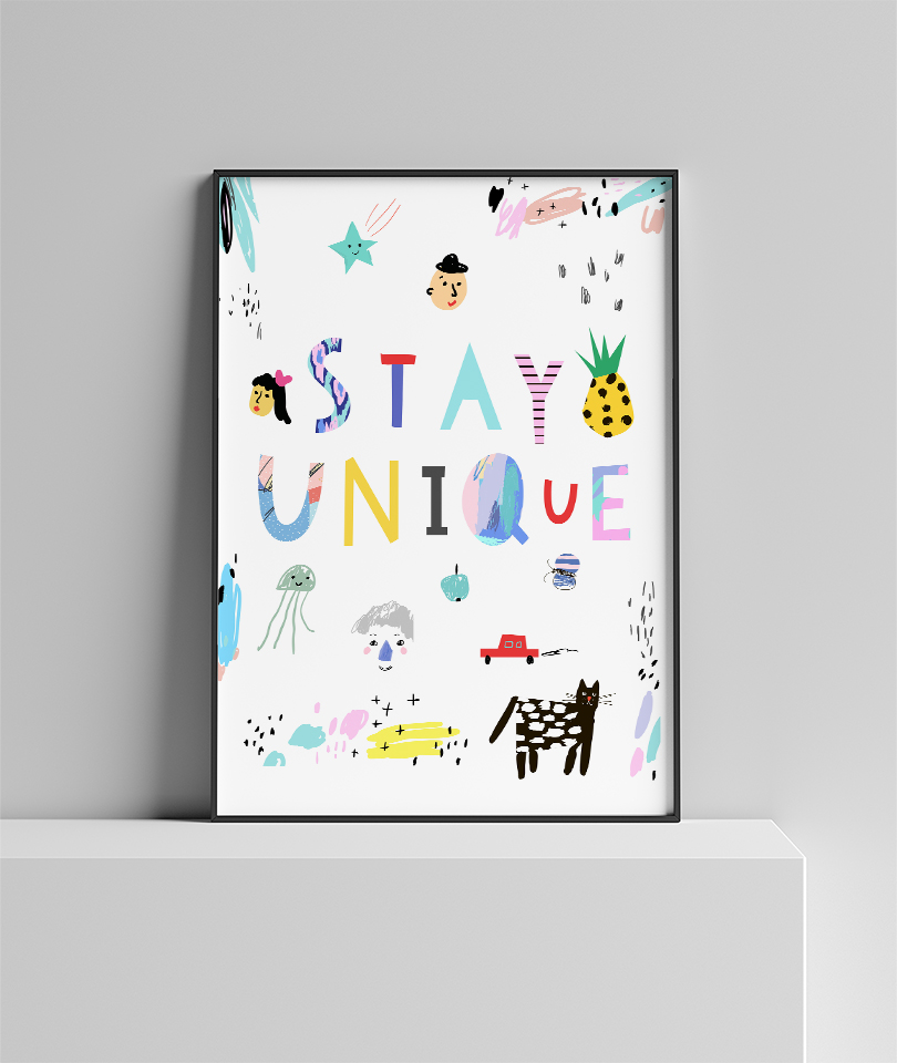 Stay Unique Poster