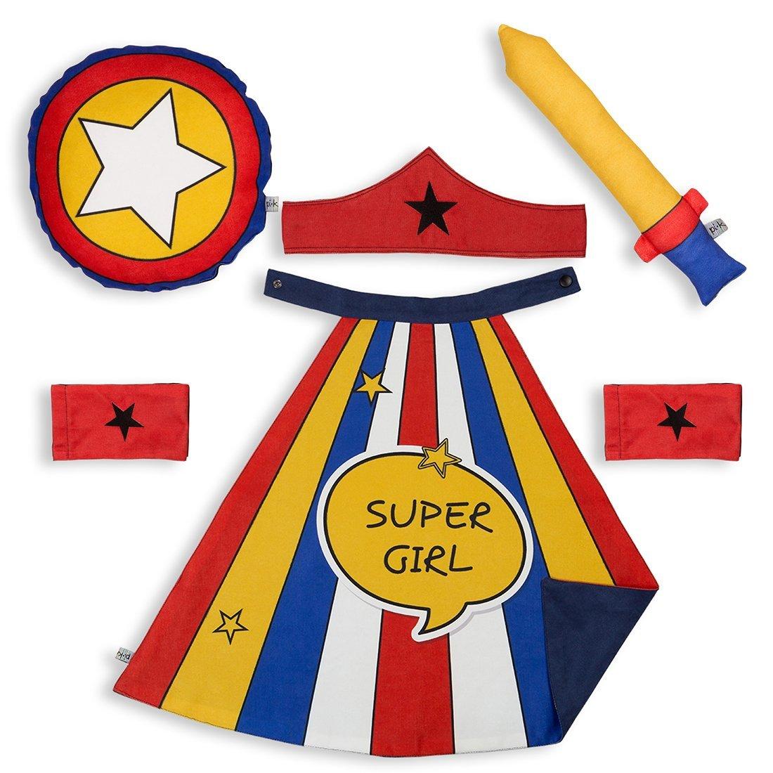 Pikabu Super Girl Çocuk Pelerin Seti 1