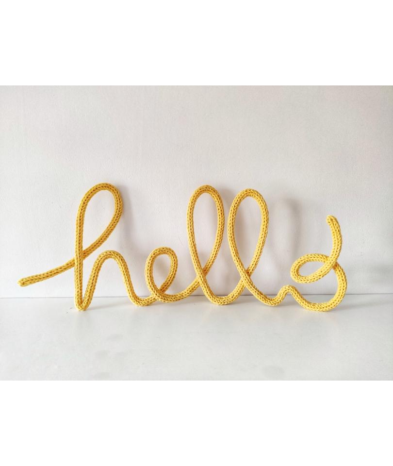 Tricotin 'Hello' - sarı 1
