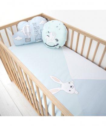 Baby Tales Üçgen Bebek Yatak Örtüsü Mavi
