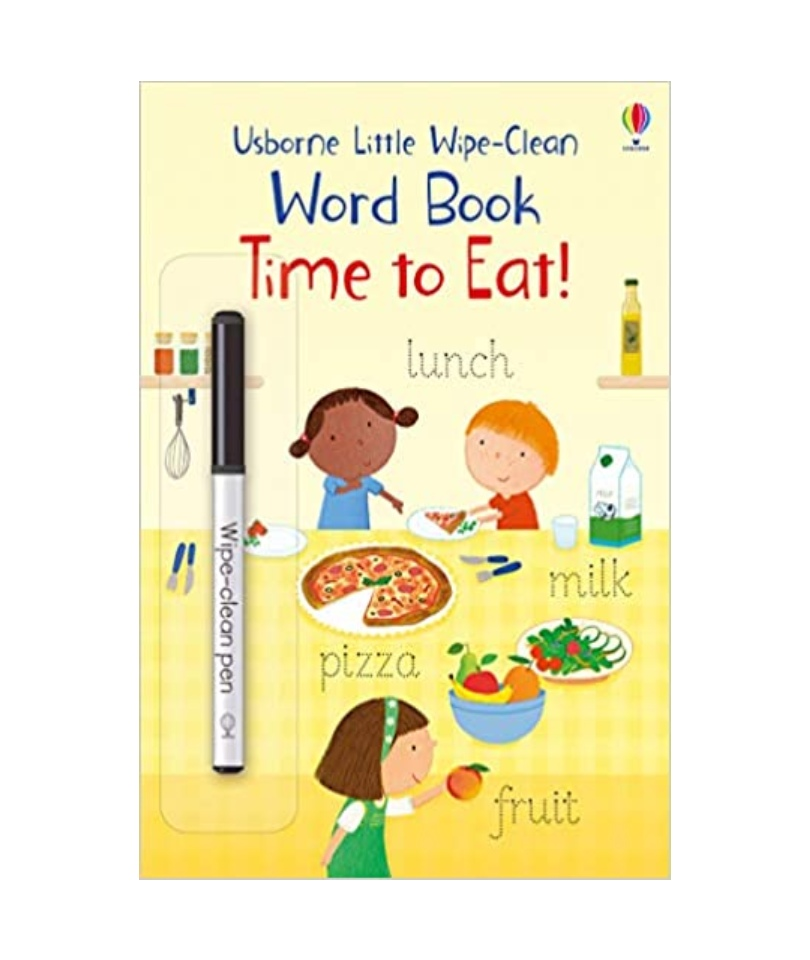 Usborne  Wipe-Clean Word Book Time to Eat 0