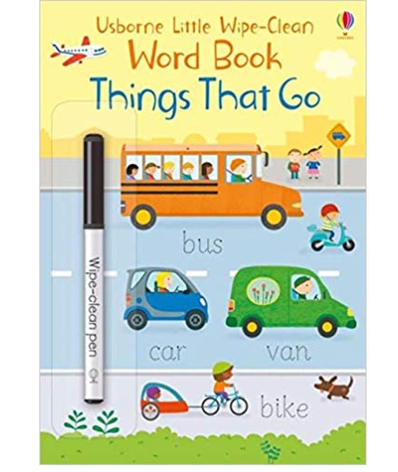 Usborne Wipe-Word Book Things That Go 0