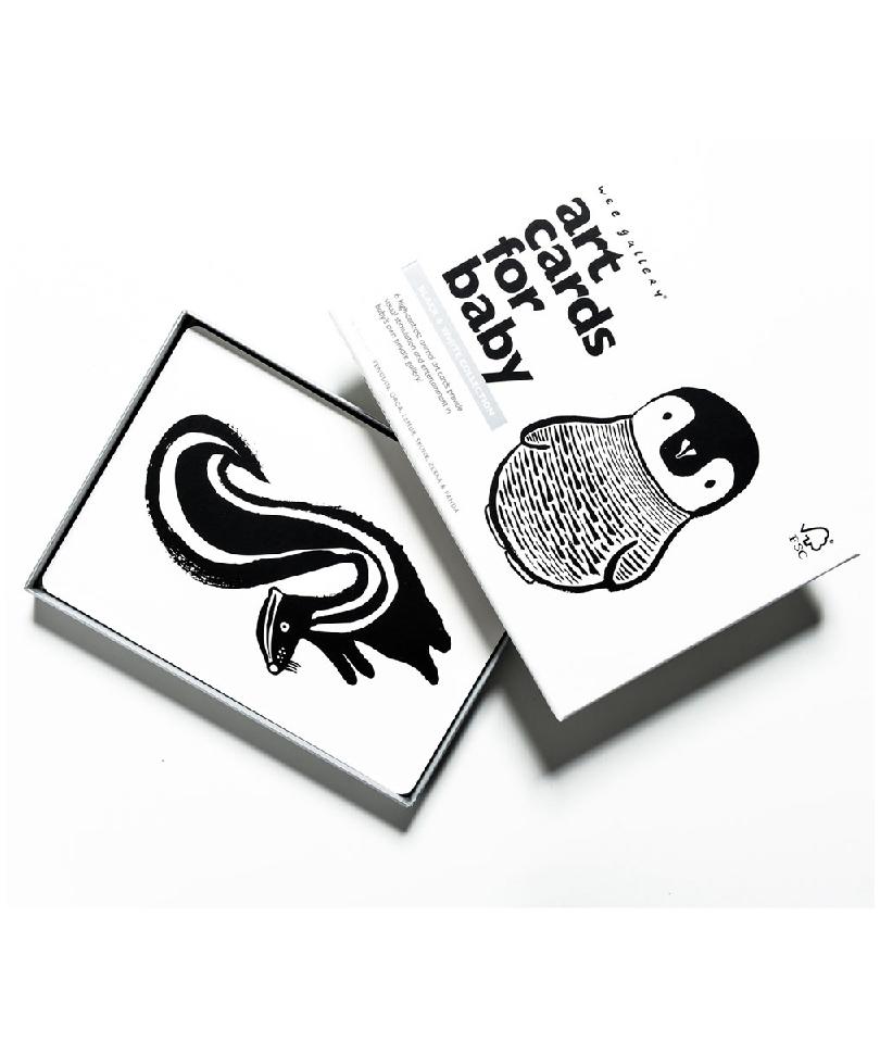 Wee Gallery Bebek Gelişim Kartları - Black and White (Baby Art Cards)