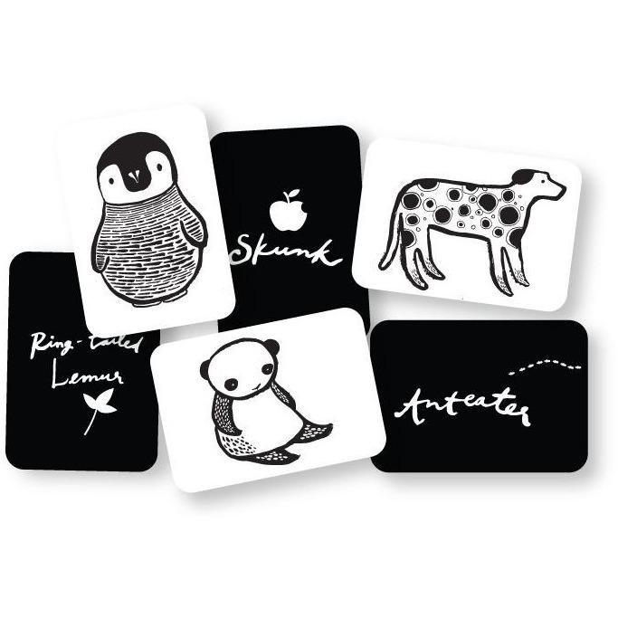 Wee Gallery Bebek Gelişim Kartları - Black and White (Baby Art Cards) 9