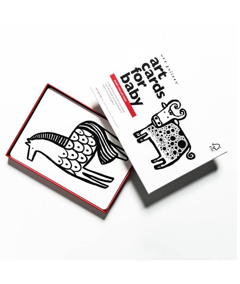 Wee Gallery Bebek Gelişim Kartları - Farm (Baby Art Cards) 8