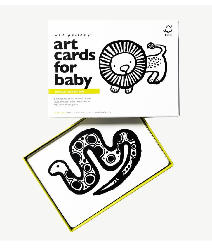 Wee Gallery Bebek Gelişim Kartları - Jungle (Baby Art Cards) 8
