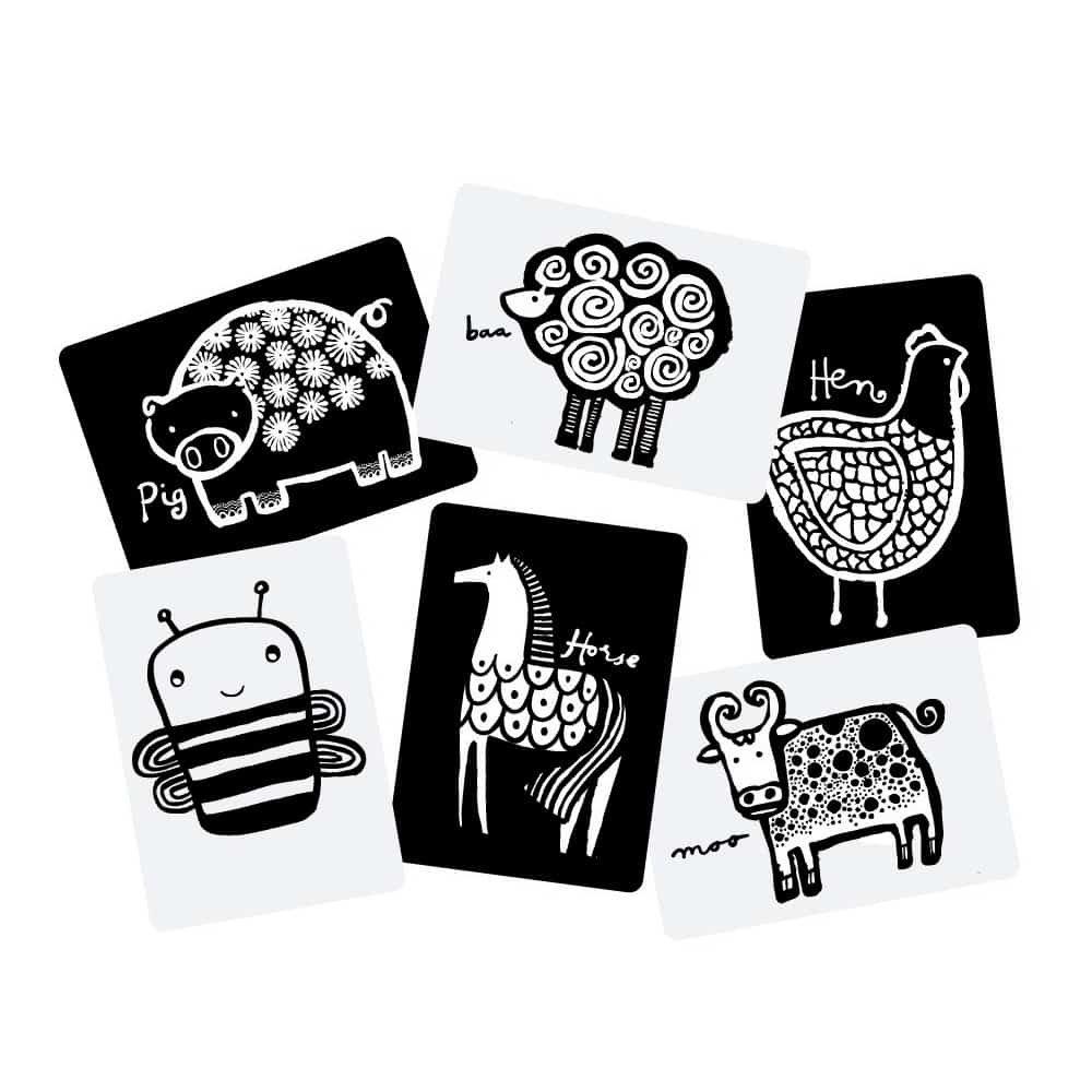 Wee Gallery Bebek Gelişim Kartları - Farm (Baby Art Cards) 9