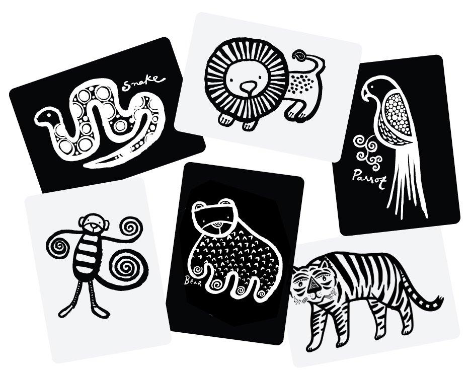 Wee Gallery Bebek Gelişim Kartları - Jungle (Baby Art Cards) 9