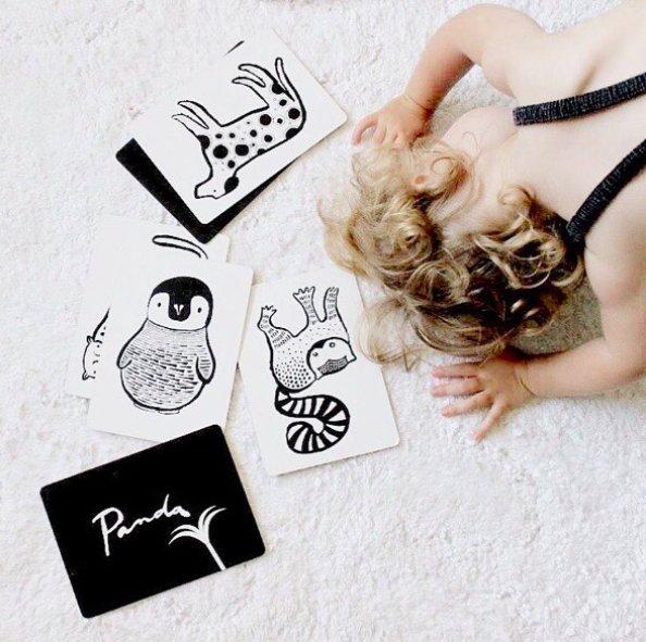 Wee Gallery Bebek Gelişim Kartları - Farm (Baby Art Cards) 4