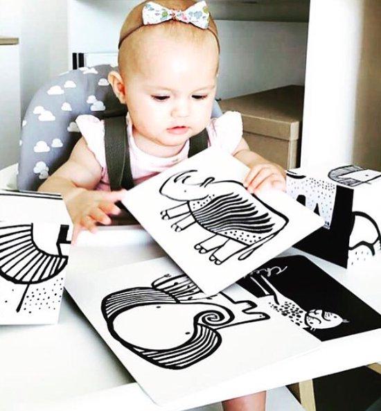 Wee Gallery Bebek Gelişim Kartları - Farm (Baby Art Cards) 5
