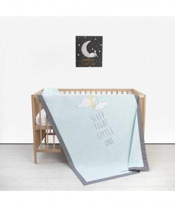 Baby Tales Yazılı Bebek Yatak Örtüsü Mint